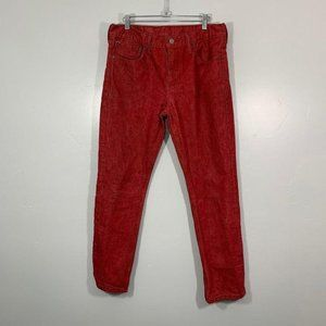 Levi's 511 Bright Red Straight Denim Casual Jeans